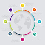 Vector colorful info graphics for your business presentations. Royalty Free Stock Images