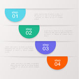 Vector colorful info graphics for your business presentations. Stock Photography