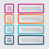 Vector colorful info graphics for your business presentations. Royalty Free Stock Photos