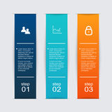 Vector colorful info graphics for your business presentations. Can be used for info graphics, graphic or website layout vector, numbered banners, diagram Stock Photography