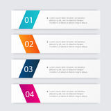 Vector colorful info graphics for your business presentations. Can be used for info graphics, graphic or website layout vector, numbered banners, diagram Stock Image