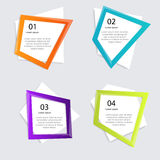 Vector colorful info graphics for your business presentations. Royalty Free Stock Photo
