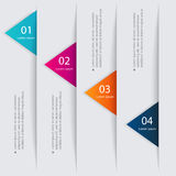 Vector colorful info graphics for your business presentations. Stock Photos