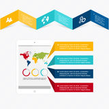 Vector colorful info graphics for your business presentations. Stock Images