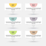Vector colorful info graphics for your business presentations. Royalty Free Stock Photography