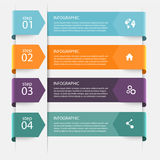 Vector colorful info graphics for your business presentations. Stock Image