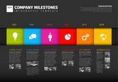 Vector colorful Infographic timeline report template Stock Images
