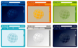 Vector colorful Internet browser stock illustration
