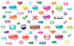 Vector colorful labels Stock Image