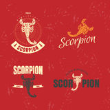 Vector colorful logo set with scorpion Stock Photo