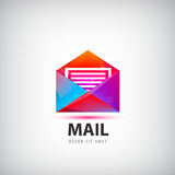 Vector colorful mail logo, icon. Envelope e-mail sign design Royalty Free Stock Images