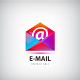 Vector colorful mail logo, icon. Envelope e-mail sign design Royalty Free Stock Image