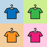 Vector colorful male or female t-shirts. EPS10 Stock Images