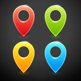 Vector Colorful Map Markers Royalty Free Stock Images