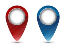Vector colorful map markers Royalty Free Stock Photography