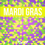 Vector colorful Mardi Gras background with mask Stock Image