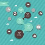 Vector colorful metaball round diagram Stock Photo