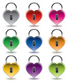 Vector colorful metal padlocks Stock Images