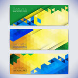 Vector colorful mosaic banners. Royalty Free Stock Photography