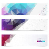 Vector colorful mosaic banners. Royalty Free Stock Images