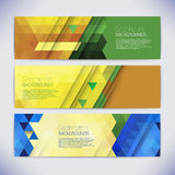 Vector colorful mosaic banners. Stock Photos