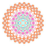 Vector colorful mosaic mandala. Beautiful design element in ethnic style. Indian, tribal, oriental ornament Royalty Free Stock Photo
