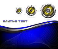 Vector colorful music background Stock Image