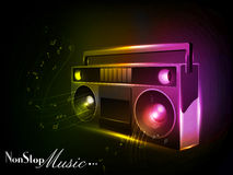 Vector Colorful neon Radio. Royalty Free Stock Image