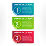 Vector colorful option banners. One, two, three vector colorful option banners Stock Photos