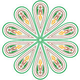 Vector colorful ornament. Vector symmetric multi-colored pattern on white background vector illustration