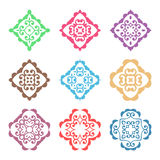 Vector colorful ornate design elements Royalty Free Stock Images