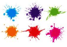 Vector colorful paint splatter.Paint splashe set.Vector illustration design. royalty free illustration