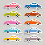 Vector Colorful Paper Cars Set Stock Photography