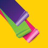 Vector colorful paper roll Stock Images