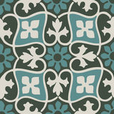 Vector colorful pastel seamless floral patterns vintage. Background Stock Image