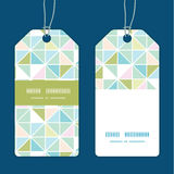 Vector colorful pastel triangle texture vertical. Stripe frame pattern tags set graphic design Stock Photography