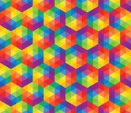 Vector colorful pattern of geometric shapes Royalty Free Stock Image