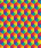 Vector colorful pattern of geometric shapes Royalty Free Stock Photos