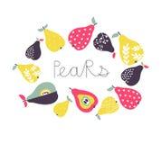 Vector cartoon pears collection stock photography