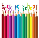 Vector colorful pencils. Back to school Stock Images