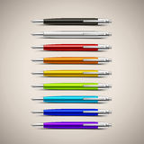 Vector Colorful Pens Royalty Free Stock Images
