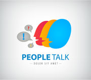 Vector colorful people chat logo, icon Royalty Free Stock Photography