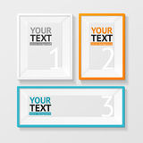 Vector colorful picture frame option banner Stock Images
