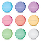 Vector colorful pills Royalty Free Stock Photos