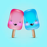 Vector colorful popsicle ice-cream Stock Images