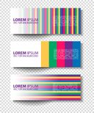 Vector colorful progress banners collection Stock Photo