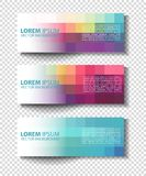 Vector colorful progress banners collection Royalty Free Stock Photo