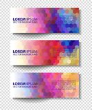 Vector colorful progress banners collection Stock Image