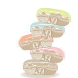 Vector Colorful realistic macaroons Royalty Free Stock Photos