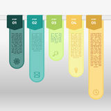 Vector colorful ribbon info graphic Royalty Free Stock Photos